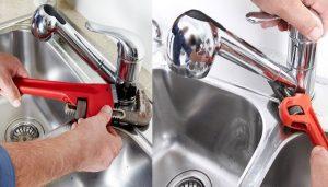 Bồn rửa chén bị rò rỉ nước do bị hở giữa chậu rửa bát và mặt bàn bếp
