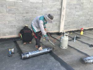 chống thấm sàn bê tông bằng màng hàn nhiệt