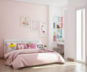 sơn màu hồng phòng ngủ